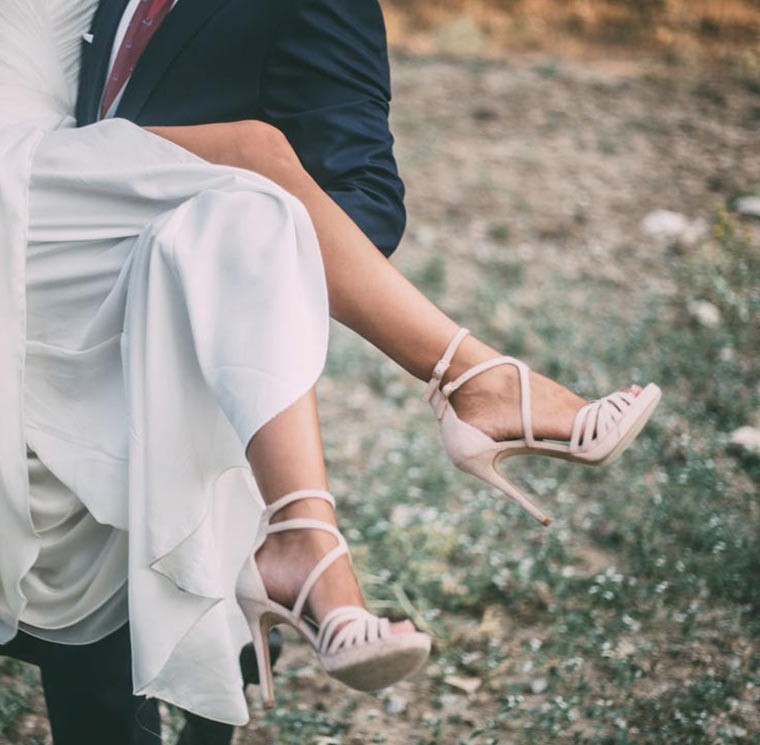 Zapatos exclusivos y originales para novias