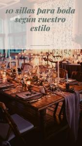 10 sillas para bodas. Elige la perfecta según tu estilo.